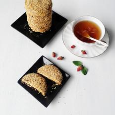 玫瑰花酱麻饼