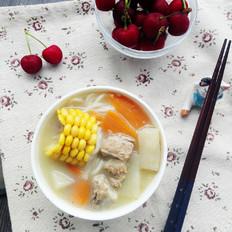 山药玉米排骨汤面