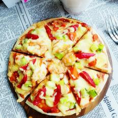 基围虾蔬果披萨