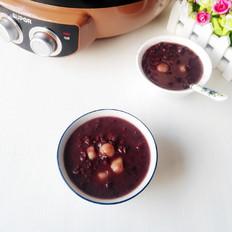 红豆黑米圆子粥