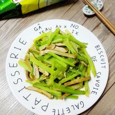 芹菜炒香干金鸡报喜合家乐