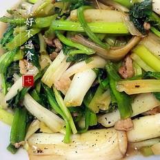家常菜系列之,水芹炒肉丝