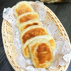 平底锅油酥咸酥饼