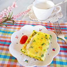牛奶蔬菜鸡蛋饼