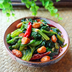 脆果仁拌菠菜