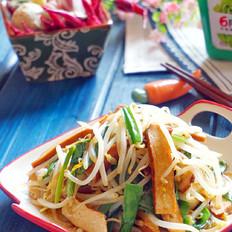 韭菜炒豆芽香干