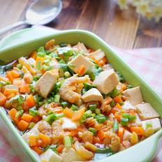 虾干蒸豆腐