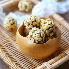 玉米片紫薯球