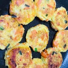 土豆胡萝卜三文鱼饼