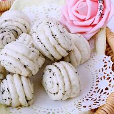 黑芝麻核桃粉花卷