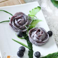 蓝莓山药的做法