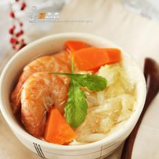 鲜虾煮白菜