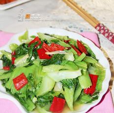 红尖椒炒芥菜