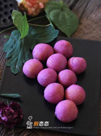 紫薯红豆球的做法