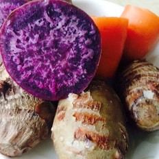 蒸芋头紫薯胡萝卜