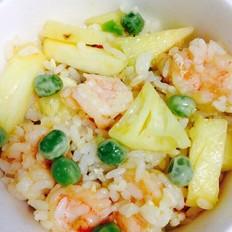 豌豆虾仁菠萝炒饭