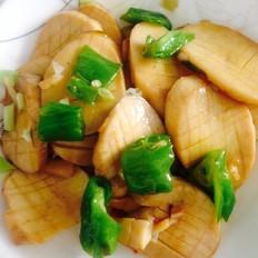柿子椒炒杏鲍菇