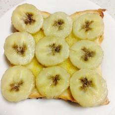 烤香蕉吐司片