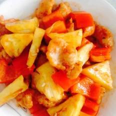 菠萝红椒咕咾肉