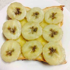 食用油烤香蕉吐司片