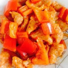 红椒咕咾肉