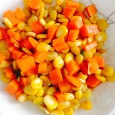 胡萝卜炒玉米