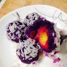 芒果紫薯糯米丸子