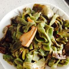 猪肉炒干莴笋片