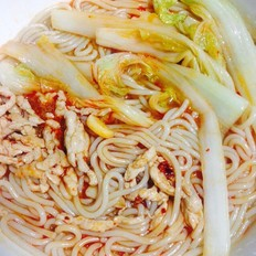 酸辣猪肉白菜米粉