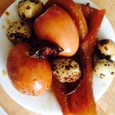 卤鸡蛋鹌鹑蛋猪皮的做法