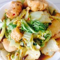 酸辣油豆腐炒白菜