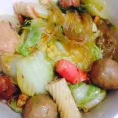 酸辣猪肉白菜肉丸炖粉条