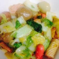 酸辣猪肉白菜炖肉丸