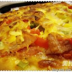 培根火腿奶香披萨