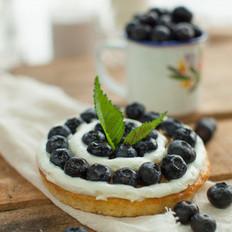 鲜奶油蓝莓小蛋糕
