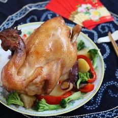 烤宴大菜:吉祥如意烤全鸡