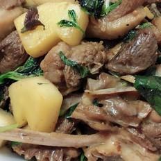 紫苏炒鸭肉