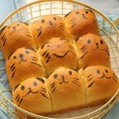 萌萌哒挤挤面包(一次性发酵)
