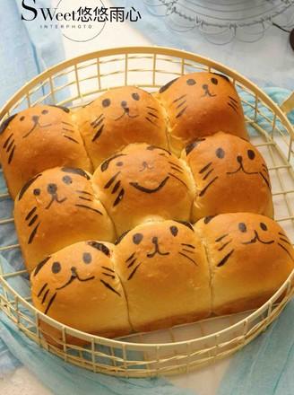 萌萌哒挤挤面包(一次性发酵)的做法