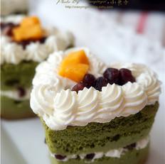 抹茶榴莲红豆蜜语蛋糕