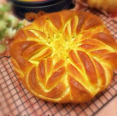 多层花朵面包