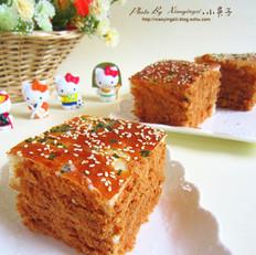 香葱肉松面包块