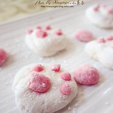 温柔的小猫爪棉花糖