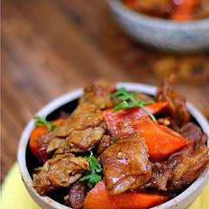 胡萝卜烧羊肋条肉