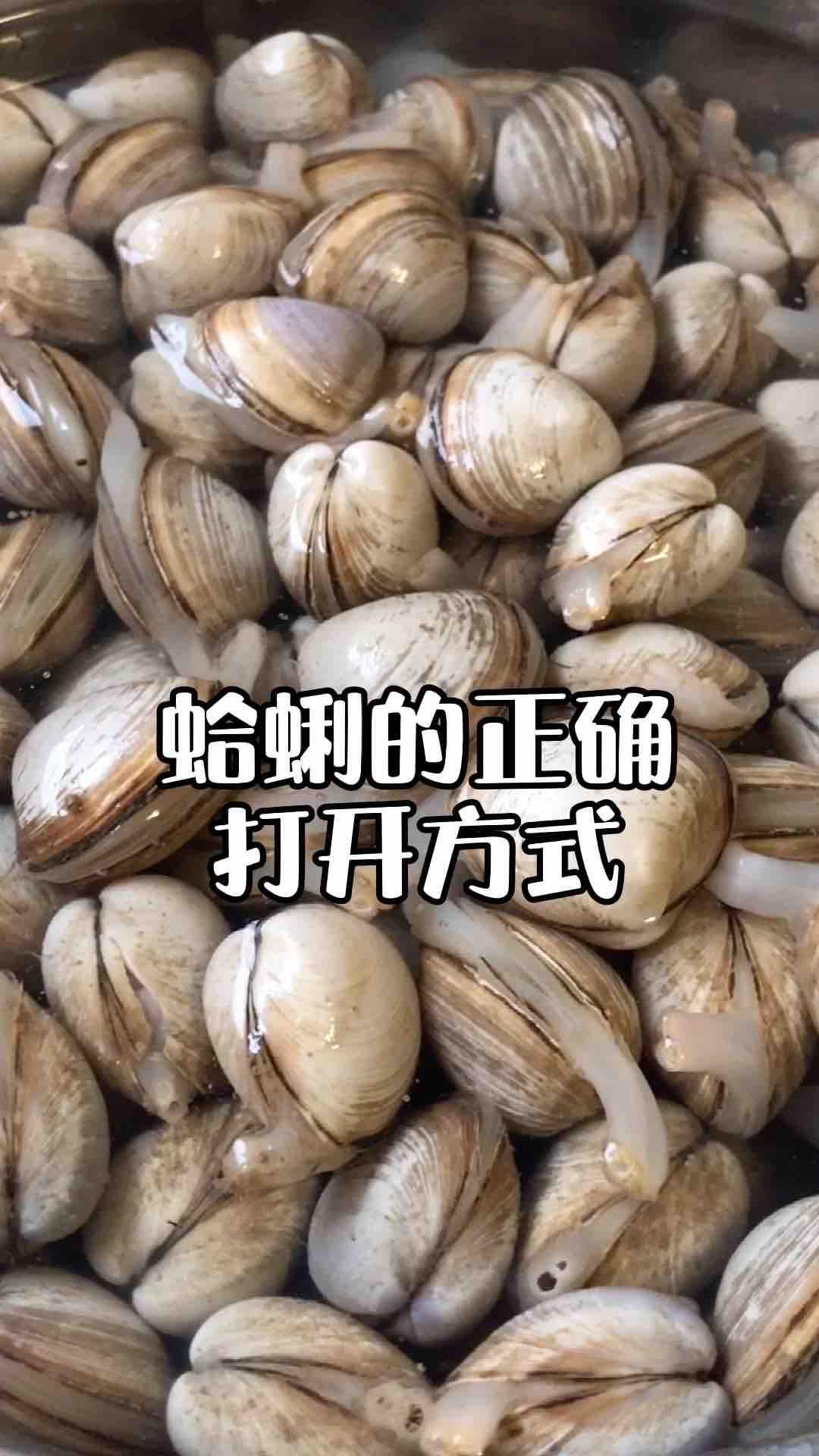 蛤蜊的正确清洗方法