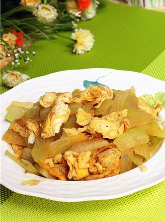 西瓜皮炒鸡蛋的做法
