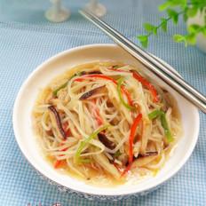 鲜冬菇炒银芽