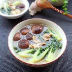 青菜香菇汤