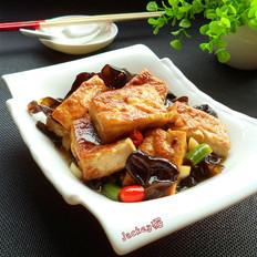 木耳烧豆腐的做法