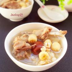 莲子薏米土鸭汤